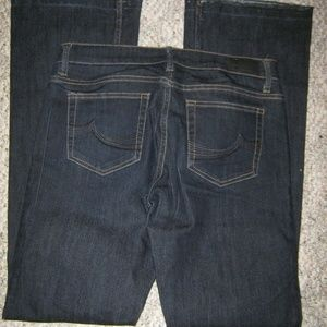BUFFALO Dark Blue Unhemmed Flare Stretch Jean 8 29